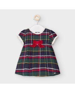 Mayoral Girls Dress Green Plaid Size 3m-18m | Baby Dresses 2867 Plaid