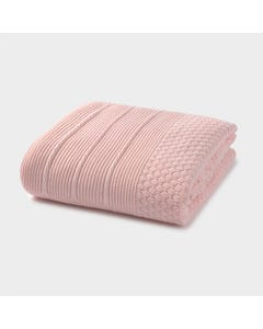 Mayoral Girls Blanket Rose Fur & Knit Size OS | Kids Blankets 9755 Pink