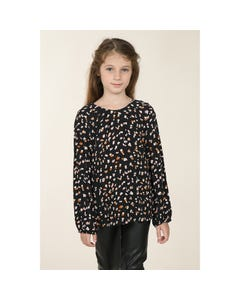 BLOUSE BLACK GRANITE PRINT