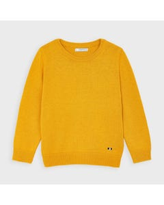 Mayoral Boys Knit Sweater Yellow Crew Neck Long Sleeve Size 2-9 | Baby Boy Sweaters 311 Yellow