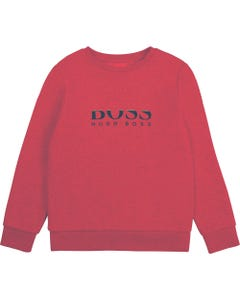 Hugo Boss Boys Sweat Top Red White & Navy Logo Size 4-16 | Toddler Sweaters J25L96 Red