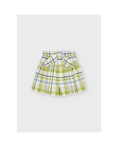 Mayoral Girls Skirt Plaid Green Multi Colored Imitation Belt/Bow Size 2-8 | Skirts For Baby Girl 4910 Plaid
