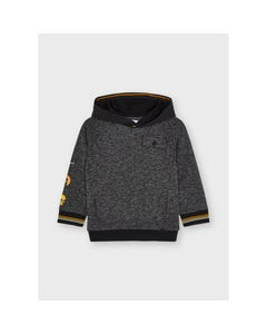 Mayoral Boys Knit Pullover Hooded Black With Pocket Size 2-9 | Kids Sweaters Boys 4401 Black