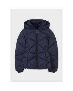 Mayoral Girls Navy Jacket Removable Hood Velour Lining Size 8-18 | Baby Girl Jackets 416 Navy
