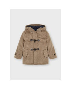 Mayoral Boys Trench Coat Light Brown Hooded With Toggle Closure Size 2-9 | Toddler Coats 4422 Brown