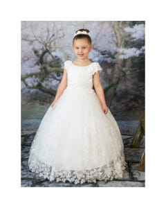 GOWN WHITE SEQUIN LACE ALLOVER