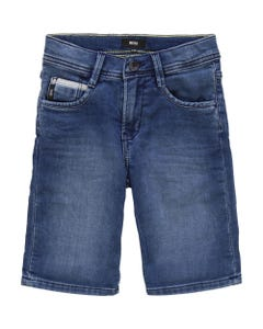 Hugo Boss Boys Denim Bermuda Shorts Size 4-16 | 24630 Denim