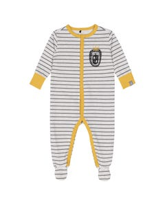 SLEEPER GREY STRIPE YELLOW TRIM