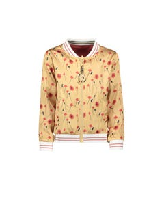 JACKET GOLD REVERSIBLE RED FLOWER PRINT SATIN