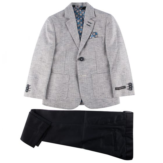 SUIT GREY & NAVY PANT SLIM FIT