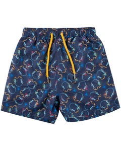 SWIM TRUNK NAVY HEADPHONE