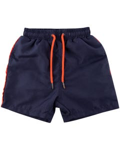 SWIM TRUNK NAVY ORANGE STRIPE