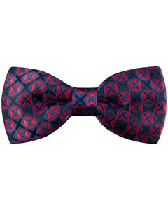 BOW TIE NAVY & RED PRINT BLUE CROSS