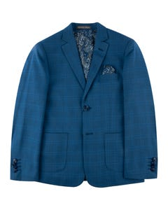 3 PC SUIT BLUE HUSKY CHECK