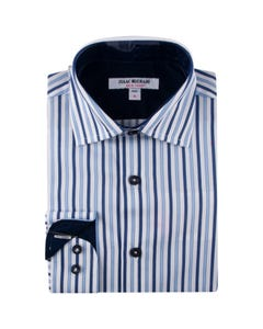 SHIRT BLUE & WHITE STRIPE