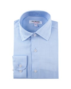 SHIRT BLUE HERRINGBONE PRINT