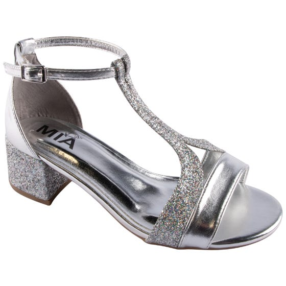 SANDAL SILVER AUBRIE SHIMMER WITH HEEL