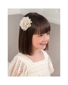 HAIR CLIP LACE CARNATION GOLDEN