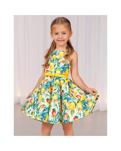 DRESS YELLOW LEMONS PRINT