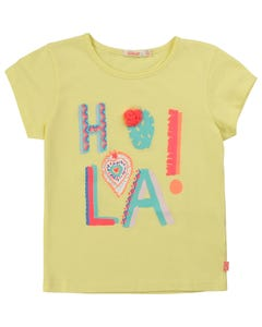 TSHIRT LIME HOLA PRINT MULTI SHORT SLEEVE