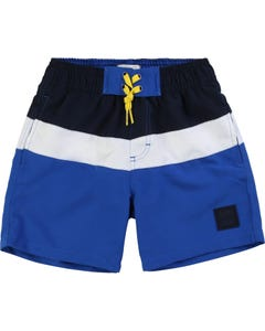 SWIM SHORT BLUE & NAVY & WHITE