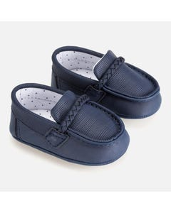 SHOE SLIP ON MOCCASINS NAVY