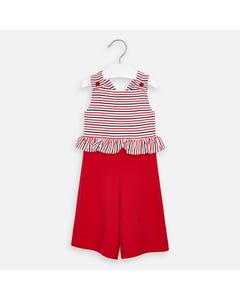 JUMPSUIT RED STRIPE RED & WHITE
