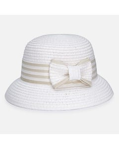 STRAW HAT NATURAL BEIGE TRIM