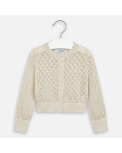 CARDIGAN GOLD SQUARE KNIT