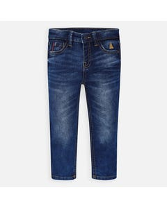 PANT DENIM SLIM FIT RED STRIPE TRIM
