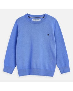 SWEATER BLUE LONG SLEEVE CREW NECK