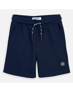 SHORT NAVY FLEECE BACK POCKET