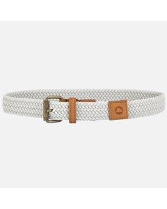 BELT GREY BRAIDED ELASTIC