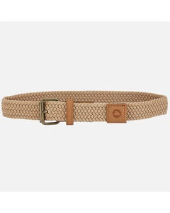 BELT LIGHT BROWN BRAIDED ELASTIC