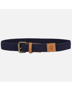 BELT NAVY BRAIDED ELASTIC