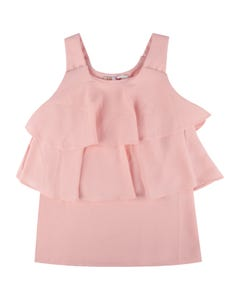 BLOUSE PINK CHIFFON STRAPS & LAYERS