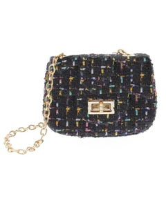 BLACK SQUARE PURSE MULTI