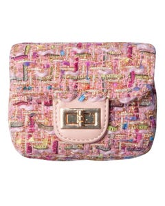 FUCHSIA SQUARE PURSE MULTI