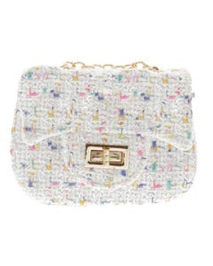 IVORY SQUARE PURSE MULTI