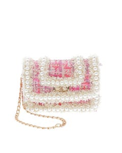 PINK PURSE PEARL DETAILING