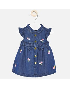 DRESS DENIM FLOWER EMBROIDERY