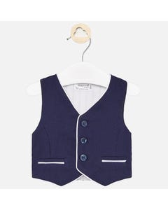 3 P VEST SET NAVY & WHITE