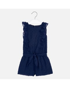 JUMPSUIT NAVY SHORT PLUMETI