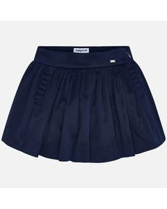 SKIRT NAVY PLEATED