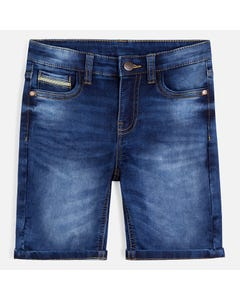 SHORT DENIM BERMUDA ADJUSTABLE WAIST