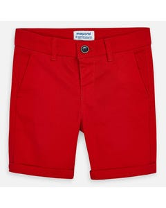 SHORT RED TWILL CHINO