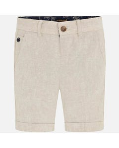 SHORT LINEN BEIGE TAILORED