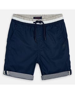 SHORT NAVY STRIPED CUFF GREY & WHITE WAISTBAND