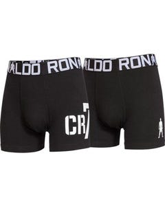 2 PK BOYS BOXER BLACK UNDERWEAR