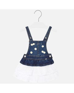 DENIM JUMPER EYELET SKIRT DAISY PRINT
